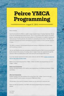 Peirce YMCA Programming
