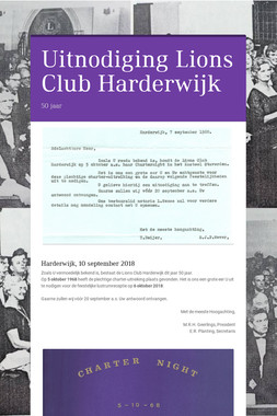 Uitnodiging   Lions Club Harderwijk