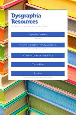 Dysgraphia Resources