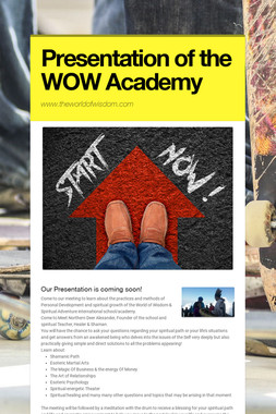Presentation of the WOW Academy