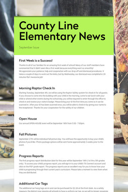 County Line Elementary News