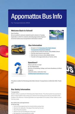 Appomattox Bus Info