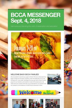 BCCA MESSENGER  Sept. 4, 2018