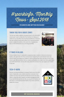 #sparkinfo. Monthly News- Sept 2018