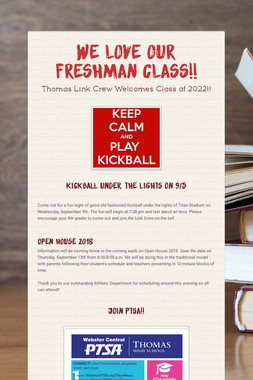 We love our Freshman Class!!