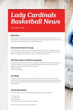 Lady Cardinals Basketball News