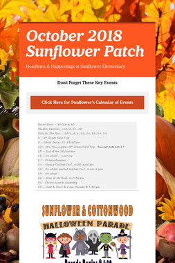 October 2018 Sunflower Patch