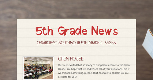 5th Grade News | Smore Newsletters