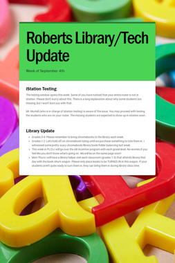 Roberts Library/Tech Update