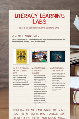LITERACY LEARNING LABS