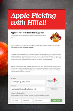 Apple Picking with Hillel!