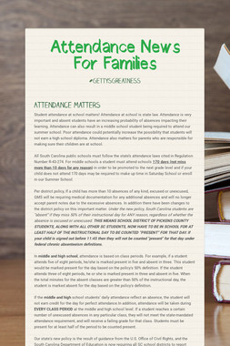Attendance News For Families