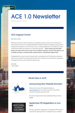 ACE 1.0 Newsletter