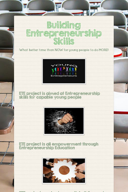 Building Entrepreneurship Skills