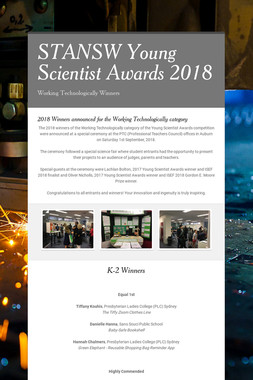 STANSW Young Scientist Awards  2018