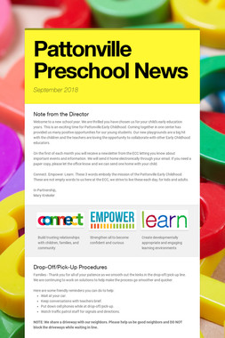 Pattonville Preschool News