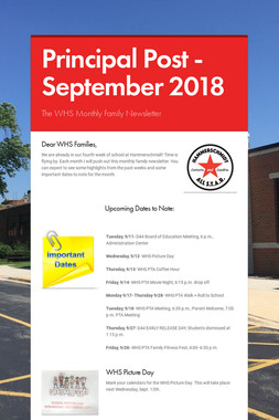 Principal Post -September 2018
