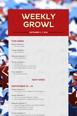 Weekly Growl