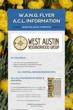 W.A.N.G. Flyer  A.C.L. Information