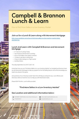 Campbell & Brannon Lunch & Learn