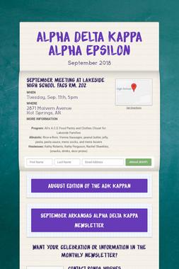 Alpha Delta Kappa Alpha Epsilon