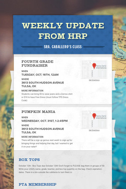 Weekly Update from HRP