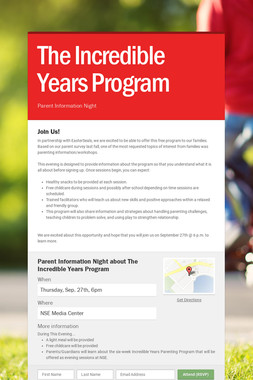 The Incredible Years Program