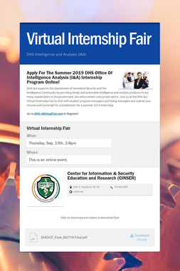 Virtual Internship Fair