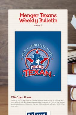 Menger Texans Weekly Bulletin