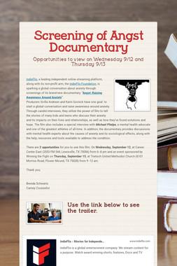 Screening of Angst Documentary