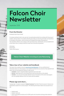 Falcon Choir Newsletter
