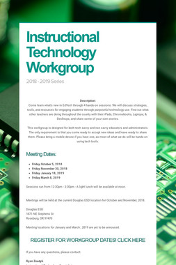 Instructional Technology Workgroup