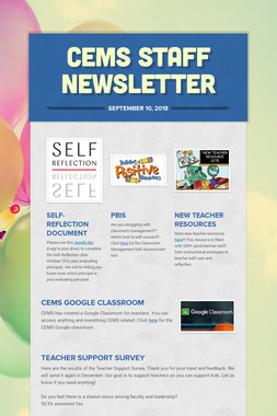 CEMS Staff Newsletter