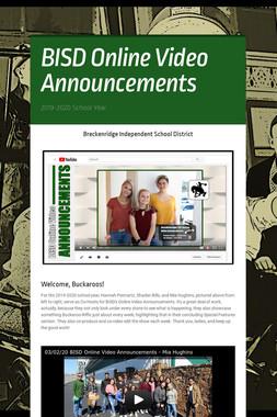 BISD Online Video Announcements