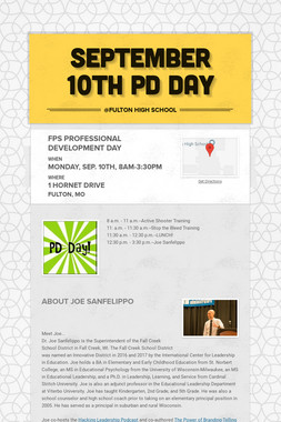 September 10th PD Day
