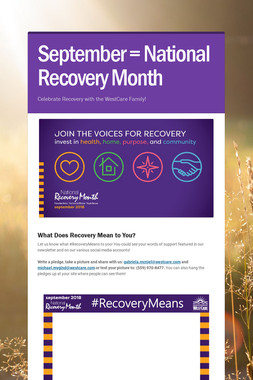 September = National Recovery Month