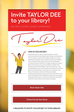 Invite TAYLOR DEE to your library!