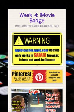 Week 4: iMovie Badge