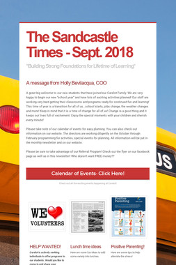 The Sandcastle Times - Sept. 2018