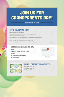 Join Us for Grandparents Day!