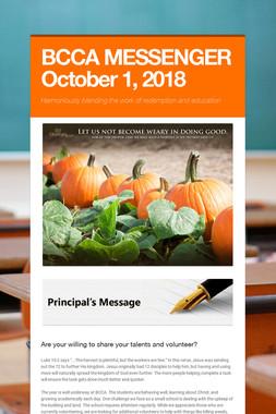 BCCA MESSENGER  October 1, 2018