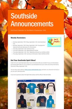 Southside Announcements