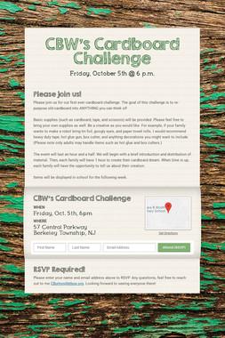 CBW's Cardboard Challenge