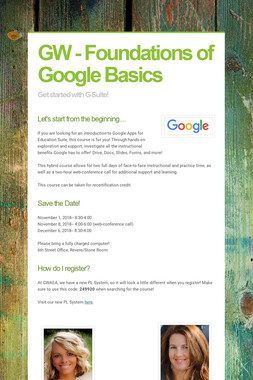 GW - Foundations of Google Basics