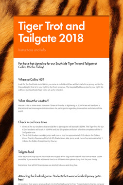 Tiger Trot and Tailgate 2018