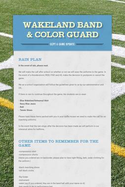Wakeland Band & Color Guard