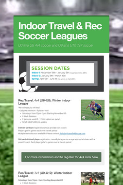 Indoor Travel & Rec Soccer Leagues