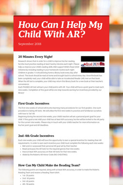 How Can I Help My Child With AR?