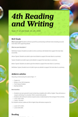 4th Reading and Writing