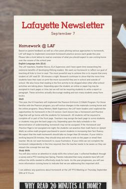 Lafayette Newsletter